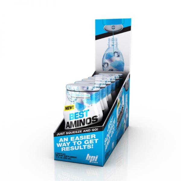 BPI Sports Best Aminos Liquid Water Enhancers Snow Cone 6pk