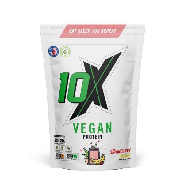 10x Athletic Vegan Protein Strawberry Banana 650g
