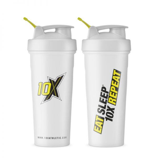 10X Athletic White Shaker 700ml