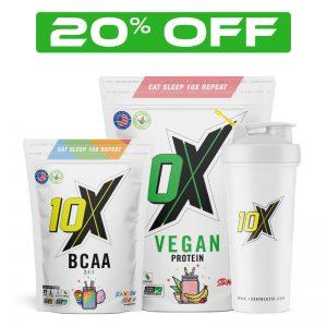 10x Athletic Vegan Protein Essentials Stack